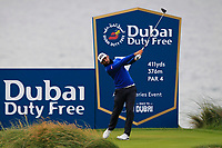 Matthieu Pavon (FRA) on the 7th tee during Round 2 of the Irish Open at LaHinch Golf Club, LaHinch, Co. Clare on Friday 5th July 2019.<br /> Picture:  Thos Caffrey / Golffile<br /> <br /> All photos usage must carry mandatory copyright credit (© Golffile | Thos Caffrey)