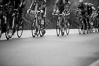Liege-Bastogne-Liege 2012.98th edition..peloton with Andy Schleck sweaping by