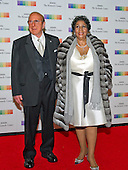 Clive Davis and Aretha Franklin arrive for the formal Artist's Dinner honoring the recipients of the 38th Annual Kennedy Center Honors hosted by United States Secretary of State John F. Kerry at the U.S. Department of State in Washington, D.C. on Saturday, December 5, 2015. The 2015 honorees are: singer-songwriter Carole King, filmmaker George Lucas, actress and singer Rita Moreno, conductor Seiji Ozawa, and actress and Broadway star Cicely Tyson.<br /> Credit: Ron Sachs / Pool via CNP