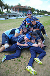St Hilda's Collegiate celebrate winning the the New Zealand Secondary Schools 1st XI NZCT girls' cricket national finals at Fitzherbert Park in Palmerston North, New Zealand on Sunday, 3 December 2017. Photo: Dave Lintott / lintottphoto.co.nz