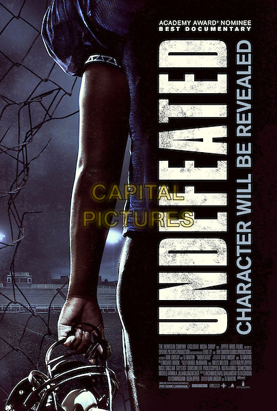 Undefeated (2011)   <br /> POSTER ART<br /> *Filmstill - Editorial Use Only*<br /> CAP/KFS<br /> Image supplied by Capital Pictures