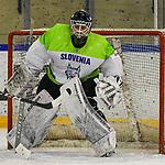 06.04.2019, BLZ Arena, Füssen / Fuessen, GER, FSP, U18, Deutschland (GER) vs Slowenien (SLO), <br /> im Bild Val Usnik (SLO, #1)<br /> <br /> Foto © nordphoto / Hafner