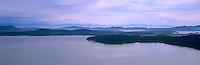 Panoramic Aerial View of Saanich Inlet, the Saanich Peninsula, and the Strait of Georgia, from the Malahat Highway on Vancouver Island, British Columbia, Canada