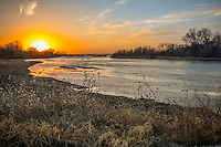 Sunset on the Platte River near Kearney Nebraska.