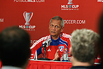 19 November 2010: Head coach Schellas Hyndman. FC Dallas held a practice at Toronto, Ontario, Canada as part of their preparations for MLS Cup 2010, Major League Soccer's championship game.