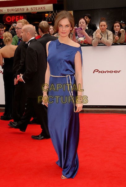 RUTH WILSON.Red Carpet Arrivals at The British Academy Television Awards (BAFTA) Sponsored by Pioneer, held at the London Palladium, London, England, May 20th 2007..full length long blue maxi dress gown.CAP/FIN.©Steve Finn/Capital Pictures.