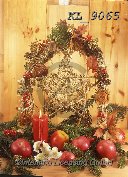 Interlitho-Helga, CHRISTMAS SYMBOLS, WEIHNACHTEN SYMBOLE, NAVIDAD SÍMBOLOS, photos+++++,candles, apples,KL9065,#xx#