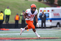 College Park, MD - October 27, 2018: Illinois Fighting Illini running back Ra'Von Bonner (21) in action during the game between Illinois and Maryland at  Capital One Field at Maryland Stadium in College Park, MD.  (Photo by Elliott Brown/Media Images International)