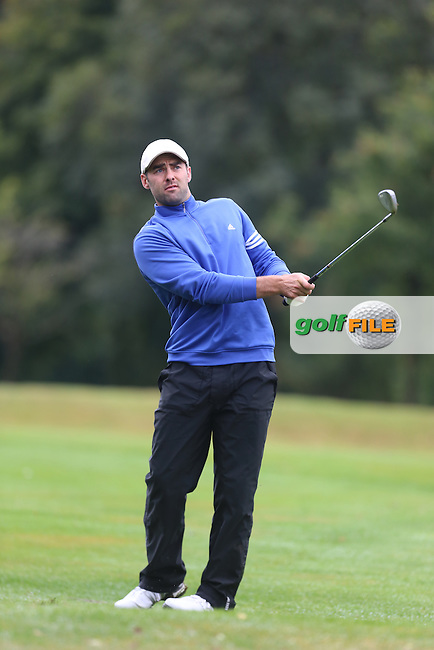 David Laird (Mahee Island) during the Ulster Mixed Foursomes Final, Shandon Park Golf Club, Belfast. 19/08/2016<br /> <br /> Picture Jenny Matthews / Golffile.ie<br /> <br /> All photo usage must carry mandatory copyright credit (© Golffile | Jenny Matthews)