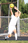 Palos Verdes, CA 02/09/12 - Danny Bishop (Peninsula #4) in action during the West vs Peninsula Bay League boys varsity soccer game.