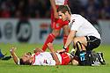 Physio Paul Dando treats Filipe Morais of Stevenage<br />  Stevenage v Ipswich Town - Capital One Cup First Round - Lamex Stadium, Stevenage - 6th August, 2013<br />  © Kevin Coleman 2013