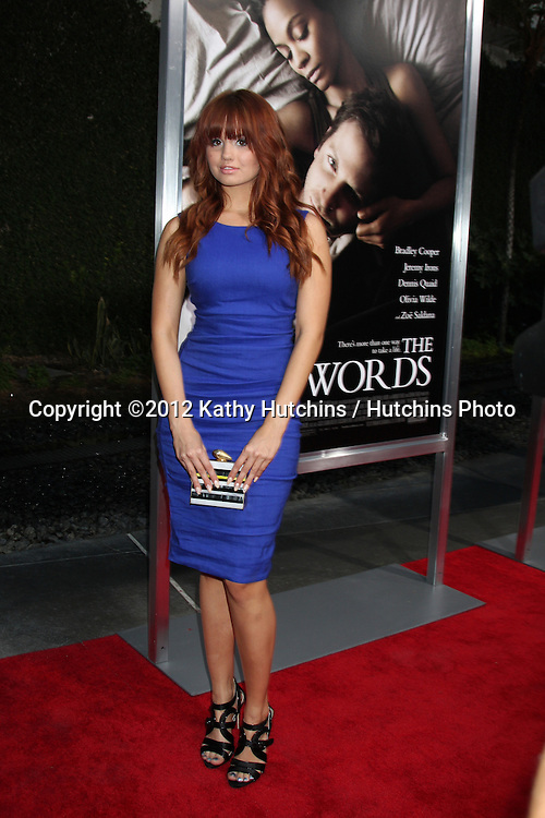 "LOS ANGELES - SEP 4:  Debby Ryan arrives at ""The Words"" Premiere at ArcLight Cinemas on September 4, 2012 in Los Angeles, CA"