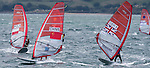 Sailors in action during the ISAF Sailing World Championships 2014 at the Real Club Maritimo of Santander on September 19 2014 in Santander, Spain. Photo by Nacho Cubero / Power Sport Images