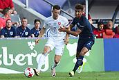 June 19th 2017, Kielce, Poland; UEFA European U-21 football championships, England versus Slovakia; Mason Holgate (ENG) challenges Jaroslav Mihalik (SLO)