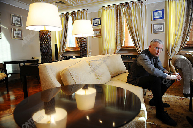 Alexander Lebedev, Russian businessman and one of the richest men in Russia. Owner the UK paper the Evening Standard and part owner of the Russian airline Aeroflot at his offices in Moscow, Russia, February 19, 2009.
