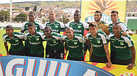 TUNJA - COLOMBIA, 05-08-2018: Jugadores del Cali posan para una foto previo al encuentro entre Boyacá Chicó FC y Deportivo Cali por la fecha 3 Liga Águila II 2018 realizado en el estadio La Independencia en Tunja. / Players of Cali pose to a photo prior a match between Boyaca Chico FC and Deportivo Cali for the date 3 of Aguila League II 2018 played at La Independencia stadium in Tunja. Photo: VizzorImage / Jose Miguel Palencia / Cont