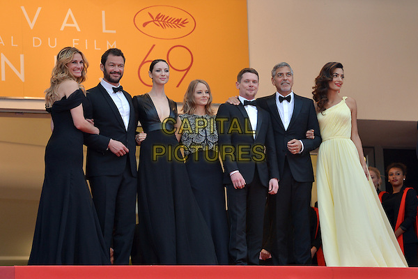 Julia Roberts, Dominic West, Caitriona Balfe, Jodie Forster, Jack O&acute;Connell, George Clooney and his wife Amal at the &acute;Money Monster` screening during The 69th Annual Cannes Film Festival on May 12, 2016 in Cannes, France.<br /> CAP/LAF<br /> &copy;Lafitte/Capital Pictures