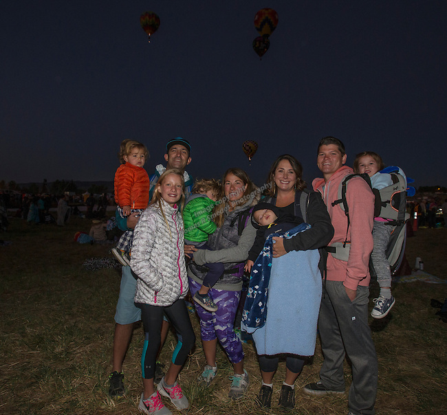 The Lew and Luis families at the Great Reno Balloon Races held on Saturday, Sept. 10, 2016.