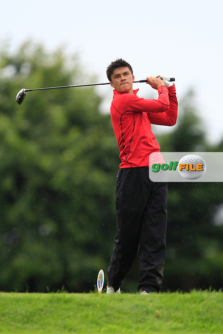 Jamie Li (ENG) on the 6th tee during Round 3 of the Irish Boys Amateur Open Championship at Thurles Golf Club on Thursday 26th June 2014.<br /> Picture:  Thos Caffrey / www.golffile.ie