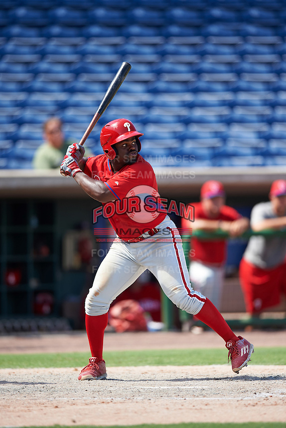 Philadelphia Phillies Josh Tobias (26) during an Instructional League game against the New York Yankees on September 27, 2016 at Bright House Field in Clearwater, Florida.  (Mike Janes/Four Seam Images)