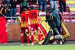 S&ouml;dert&auml;lje 2014-05-18 Fotboll Superettan Syrianska FC - Hammarby IF :  <br /> Syrianskas Nikola Grubjesic jublar framf&ouml;r TV-kamera med Syrianskas Uros Delic efter sitt 2-2 m&aring;l<br /> (Foto: Kenta J&ouml;nsson) Nyckelord:  Syrianska SFC S&ouml;dert&auml;lje Fotbollsarena Hammarby HIF Bajen jubel gl&auml;dje lycka glad happy