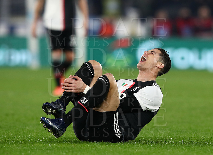 Football, Serie A: S.S. Lazio - Juventus Olympic stadium, Rome, December 7, 2019. <br /> Juventus' Cristiano Ronaldo reacts during the Italian Serie A football match between S.S. Lazio and Juventus at Rome's Olympic stadium, Rome on December 7, 2019.<br /> UPDATE IMAGES PRESS/Isabella Bonotto