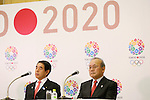 (L to R) Hakubun Shimomura, Mitsunori Torihara, JANUARY 24, 2014 : Tokyo Organising Committeee of the Olympic and Paralympic Games member attend press conference in Tokyo, Japan. The Tokyo Organising Committee of the Olympic and Paralympic Games (Tokyo 2020) was formally established today and will be headed by former Prime Minister of japan Yoshiro Mori. (Photo by Yusuke Nakansihi/AFLO SPORT) [1090]