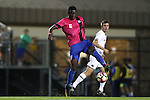 21 October 2016: Duke's Cameron Moseley. The Duke University Blue Devils hosted the University of Notre Dame Fighting Irish at Koskinen Stadium in Durham, North Carolina in a 2016 NCAA Division I Men's Soccer match. Duke won the game 2-1 in two overtimes.