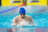 Picture by Allan McKenzie/SWpix.com - 17/12/2017 - Swimming - Swim England Nationals - Swim England National Championships - Ponds Forge International Sports Centre, Sheffield, England - Jacob Greenow races in the mens open 200m individual medley.