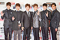 June 23, 2012, Chiba, Japan - Members of the South Korean boy band 2PM pose on the red carpet during the MTV Video Music Awards Japan event. (Photo by Christopher Jue/AFLO)