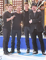 August 17, 2012 Jeff Timmons, Drew Lachey, Nick Lachey,Justin Jeffre,   98 Degrees perform on the NBC's Today Show Toyota Concert Serie at Rockefeller Center in New York City.Credit:© RW/MediaPunch Inc. /NortePhoto.com<br />