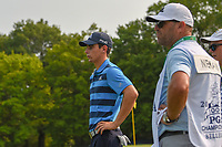 Joaquin Niemann (CHL) waits to putt on 5 during 4th round of the 100th PGA Championship at Bellerive Country Club, St. Louis, Missouri. 8/12/2018.<br /> Picture: Golffile   Ken Murray<br /> <br /> All photo usage must carry mandatory copyright credit (© Golffile   Ken Murray)