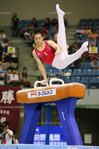 Fuya Maeno, <br /> JULY 6, 2014 - Artistic Gymnastics : The 68th All Japan Artistic Gymnastics Apparatus Championship, Men's Pommel horse at Chiba Port Arena, Chiba, Japan. (Photo by Yohei Osada/AFLO SPORT)