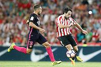 Athletic de Bilbao's Benat Etxebarria (r) and FC Barcelona's Jordi Alba during La Liga match. August 28,2016. (ALTERPHOTOS/Acero) /NORTEPHOTO