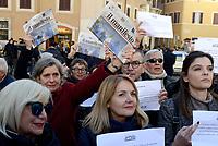 Giornaliste e giornalisti FNSI in piazza contro i tagli all'editoria