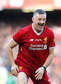 24th March 2018, Anfield, Liverpool, England; LFC Foundation Legends Charity Match 2018, Liverpool Legends versus FC Bayern Legends; John Aldridge of Liverpool Legends enjoys his brief second half appearance