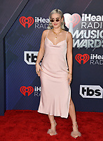 Anne-Marie at the 2018 iHeartRadio Music Awards at The Forum, Los Angeles, USA 11 March 2018<br /> Picture: Paul Smith/Featureflash/SilverHub 0208 004 5359 sales@silverhubmedia.com