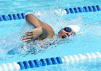 Monona Swim and Dive Club's Zaria Terry (16) wins the women's 15-19 year-old 100-meter freestyle with a time of 58.59 seconds during 2019 All-City Swim and Dive on Sunday, 8/4/19 at West Side Swim Club in Madison, Wisconsin