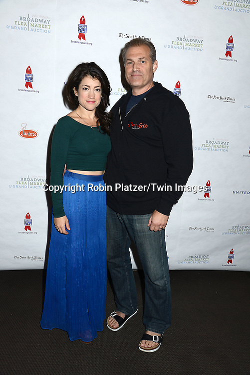 Sarah Stiles and Mark Kudisch attends the 29th Annual Broadway Flea Market &amp; Grand Auction benefitting Broadway Cares/ Equity Fights Aids  at Shubert Alley on September 27, 2015 in New York, New York, USA.<br /> <br /> photo by Robin Platzer/Twin Images<br />  <br /> phone number 212-935-0770