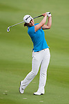 CHON BURI, THAILAND - FEBRUARY 17:  Meena Lee of South Korea plays her approach shot on the 17th hole during day two of the LPGA Thailand at Siam Country Club on February 17, 2012 in Chon Buri, Thailand.  Photo by Victor Fraile / The Power of Sport Images