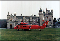 BNPS.co.uk (01202 558833)Pic: QueensFlightArchivesDoor to door sevice - Queen's Flight Wessex at Balmoral.<br /> <br /> A new book gives an intimate look behind the scenes of the Royal Flight and also the flying Royals.<br /> <br /> Starting in 1917 the book charts in pictures the 100 year evolution of first the King's Flight and then later the Queen's Flight as well as the Royal families passion for aviation.<br /> <br /> Author Keith Wilson has had unprecedented access to the Queen's Flight Archives to provide a fascinating insight into both Royal and aeronautical history.