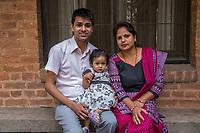 Nepal, Kathmandu. Nepal, Kathmandu. Rajan Pandit, NYF HR manager, and family.