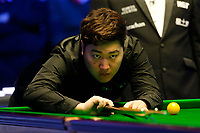 29th February 2020; Waterfront, Southport, Merseyside, England; World Snooker Championship, Coral Players Championship;  Yan Bingtao (CHN) at the table during tonight's semi final match versus Shaun Murphy (ENG)