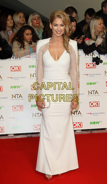 LONDON, ENGLAND - Amanda Clapham at the National Television Awards 2016 Red Carpet arrivals at the O2 Arena on January 20th 2016 in London, EnglandCAP/ROS<br /> &copy;ROS/Capital Pictures