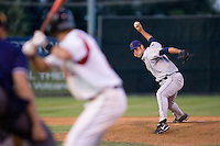 July 7, 2009: Tri-City Dust Devils' Rhett Ballard pitches against the Salem-Keizer Volcanoes during a Northwest League game at Volcanoes Stadium in Salem, Oregon.