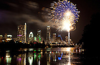 Fireworks Over Town Lake in Austin, Texas