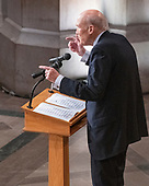Former United States Senator Alan Simpson (Republican of Wyoming) delivers a tribute at the National funeral service in honor of the late former US President George H.W. Bush at the Washington National Cathedral in Washington, DC on Wednesday, December 5, 2018.<br /> Credit: Ron Sachs / CNP<br /> (RESTRICTION: NO New York or New Jersey Newspapers or newspapers within a 75 mile radius of New York City)
