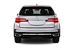 Straight rear view of a 2019 Acura MDX Standard 5 Door SUV stock images