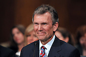 Washington, D.C. - January 8, 2009 -- Former United States Senator Tom Daschle (Democrat of South Dakota) testifies before the United States Senate Committee on Health, Labor, Education, and Pensions on his nomination to be Secretary of Health and Human Services in Washington, D.C. on Thursday, January 8, 2009..Credit: Ron Sachs / CNP