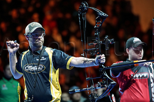 17.01.2016. Nimes, France. The Arc club Nimes Indoor World Championships of Archery.  Gellenthien Braden (USA)